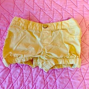 Gymboree 2T yellow shorts